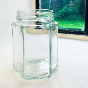 Honingpot Hexa 288 ml / 350 gram Toc 63 met deksel - 20 stuks
