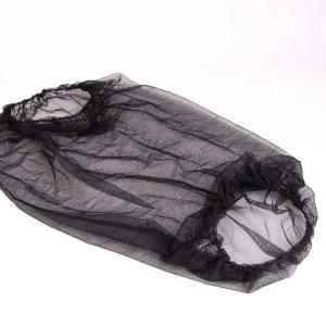 Zwarte tullen sluier in nylon voor tropenhelm