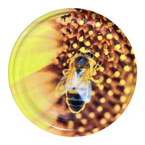 Deksel Zonnebloem met bij – toc 63 mm