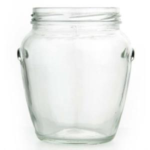 Orcio pot met oren 580 ml / 800 gram Toc 82 met deksel - 9 stuks