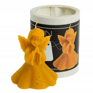 Lyson kaarsen gietvorm - Engel met sneeuwvlok hoogte 8 cm [FS411]