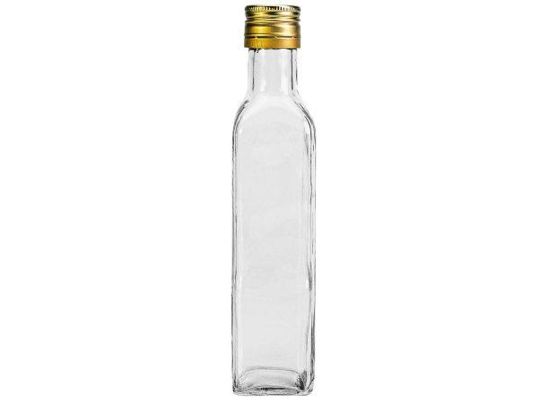 Marasca fles met metalen draaidop 250 ml – per 8