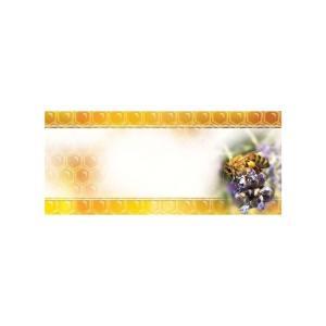 Universele mini etiketten 45x25 mm - paarse bloem - per 100
