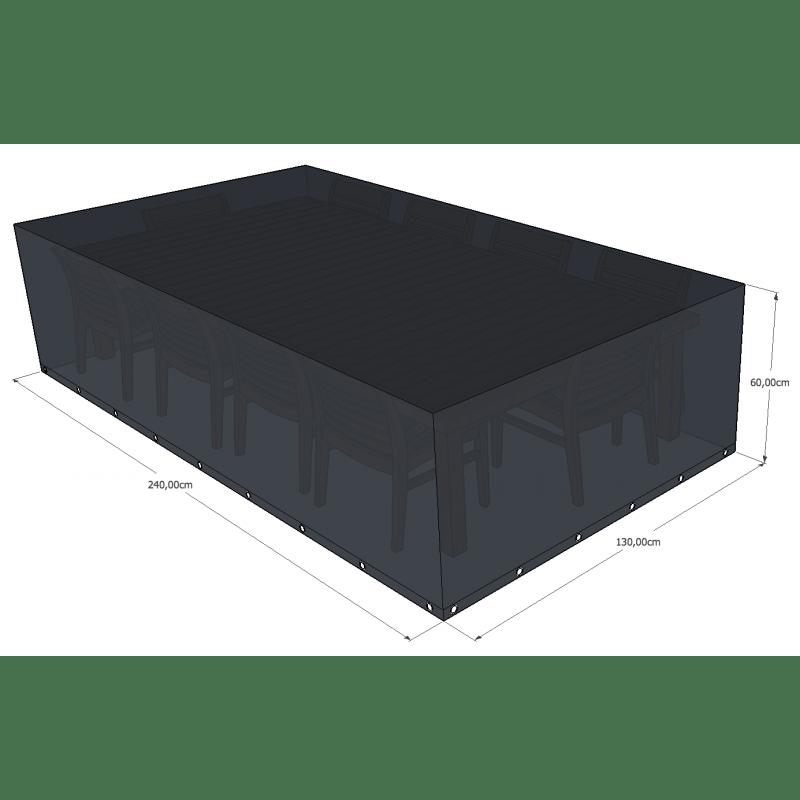 Housse de protection Salon de jardin rectangulaire 240x130x60