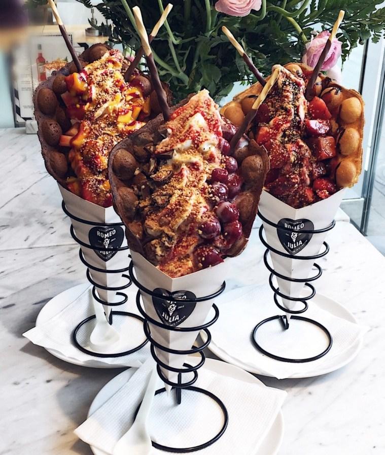 Eggwaffles, Romeo & Julia Köln, Foodporn, Froyo