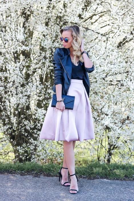 Outfit, Carrie, Skirt, Rock, Lederjacke, Leather Jacket, Spring