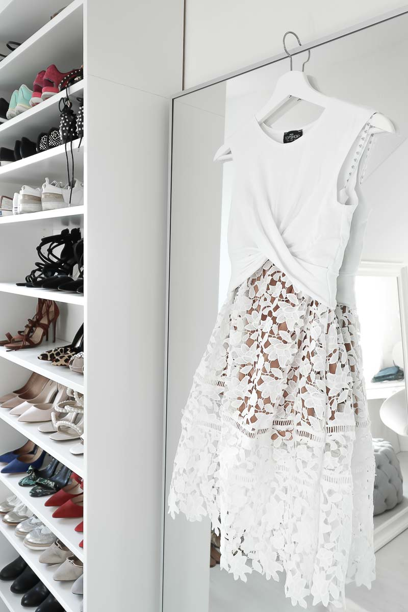 What to pack for Dubai, white, lace Midi Skirt, Rock aus Spitze