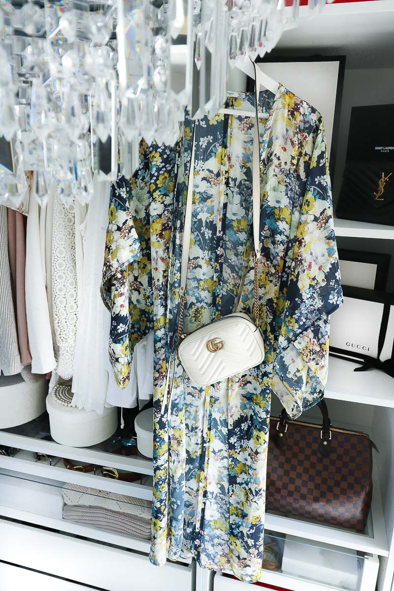 What to pack for Dubai, Kimono, Kaftan, Gucci Marmont Bag
