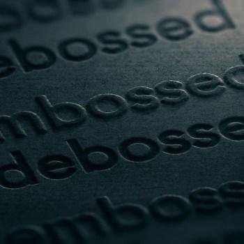 Embossed and debossed print