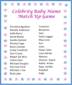 photo relating to Celebrity Baby Name Game Printable referred to as Movie star Mother Trivia Little one Shower Activity Legacy Year