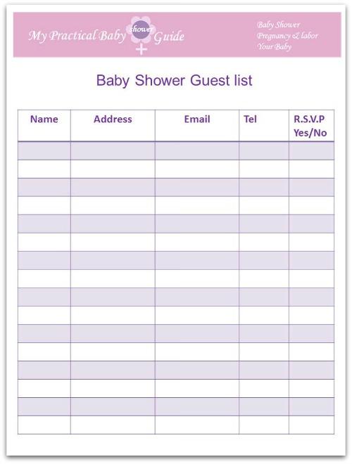 baby shower planner book