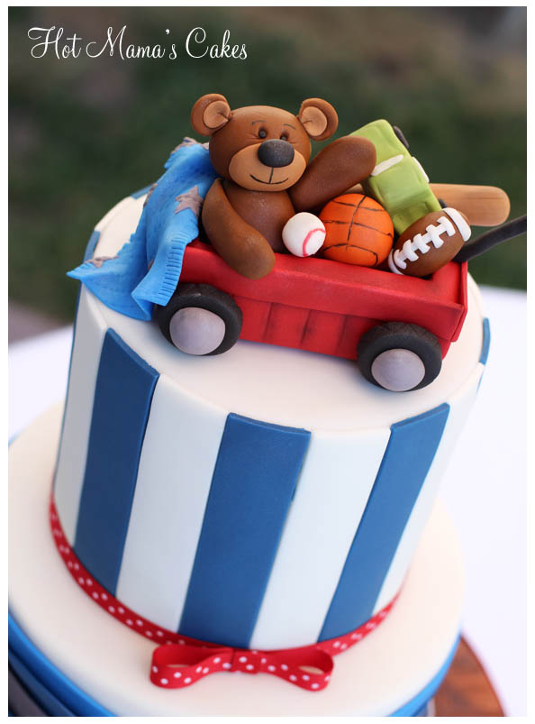 Vintage Toy Filled Wagon Baby Shower Cake  My Practical