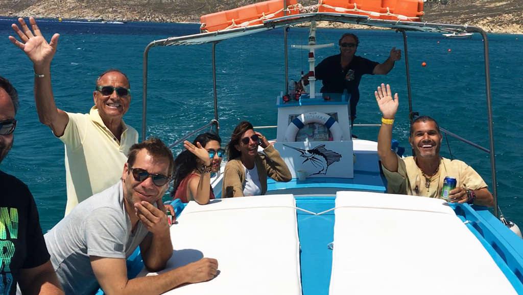 Day trip on a Fishing Boat in Mykonos