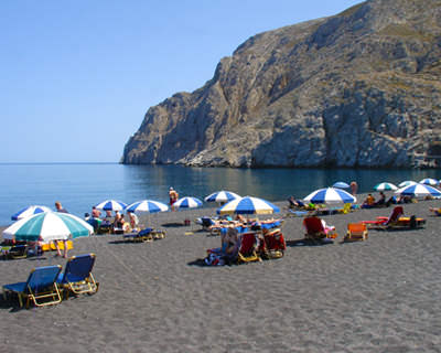 Colored Beaches Santorini - black Beach 2