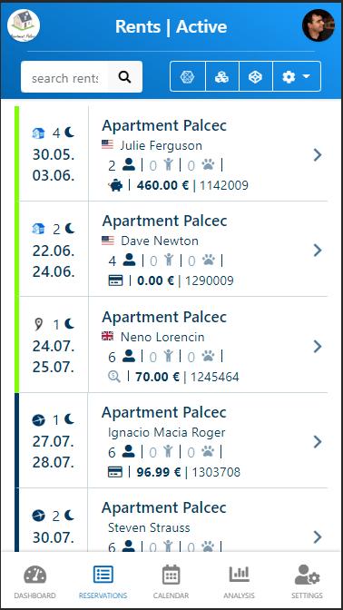 myrent-cell-prenotazione lista