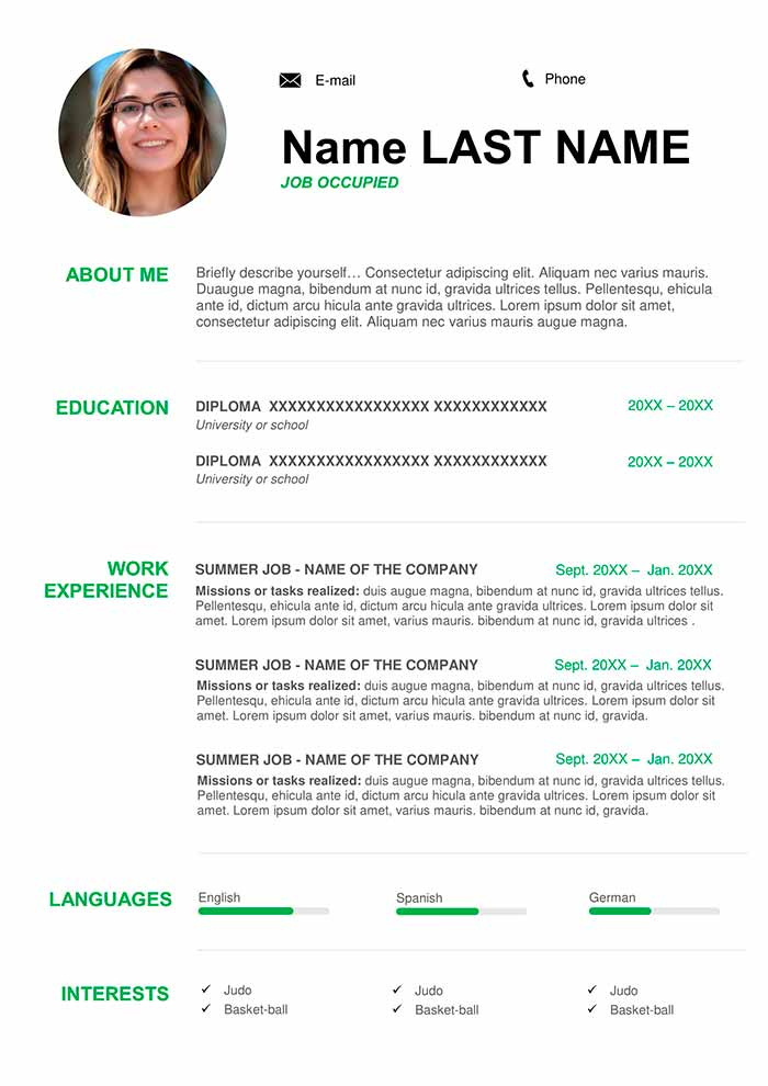 free online resume templates for word
