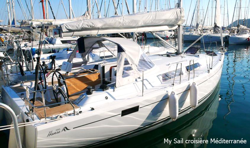 Voilier à louer avec ou sans skipper Bateau Marseille Promenade Balade En Mer Croisiere a La Carte My Sail Mediterranee hanse 385