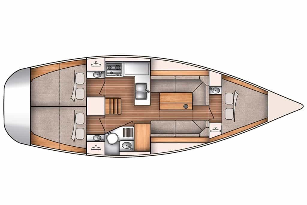 voilier Oceanis 350 Beneteau