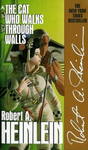 "Cover of the 1988 paperback edition of ""The Cat Who Walks Through Walls"" by Robert A. Heinlein."