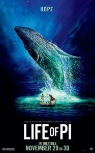 "Movie poster for ""Life of Pi""."