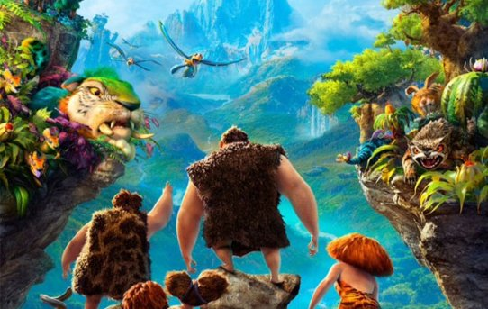 "Theatrical poster for ""The Croods""."