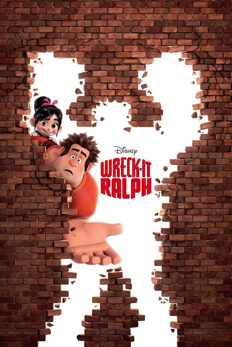 "Poster for Disney's animated film ""Wreck-It Ralph""."
