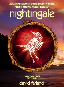 "Enhanced eBook cover of ""Nightingale"" by David Farland."