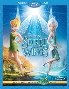 "Cover of ""Secret of the Wings"", featuring Tinker Bell and Periwinkle."