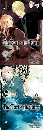 """Covers of volumes 1-2 of """"The Earl and the Fairy"""" by Ayuko."""