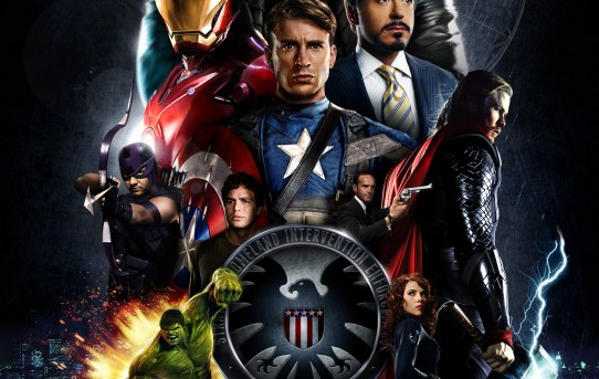 """Movie poster from """"The Avengers"""" from Marvel Studios and Disney."""