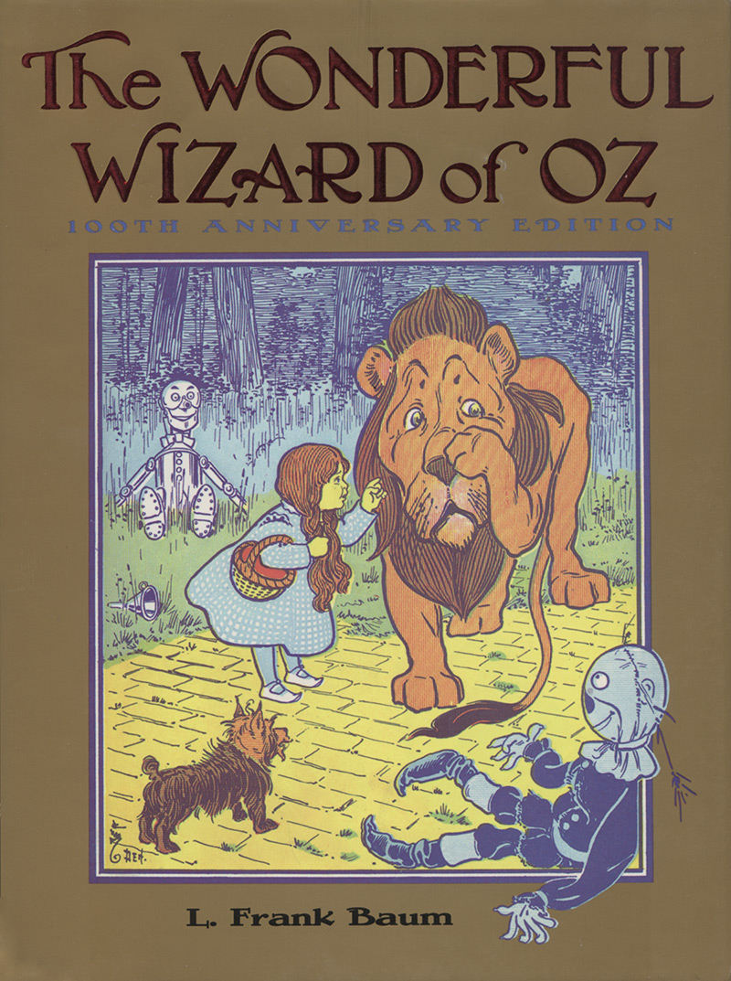 "Cover of the 100th Anniversary Edition of ""The Wonderful Wizard of Oz"" by L. Frank Baum."