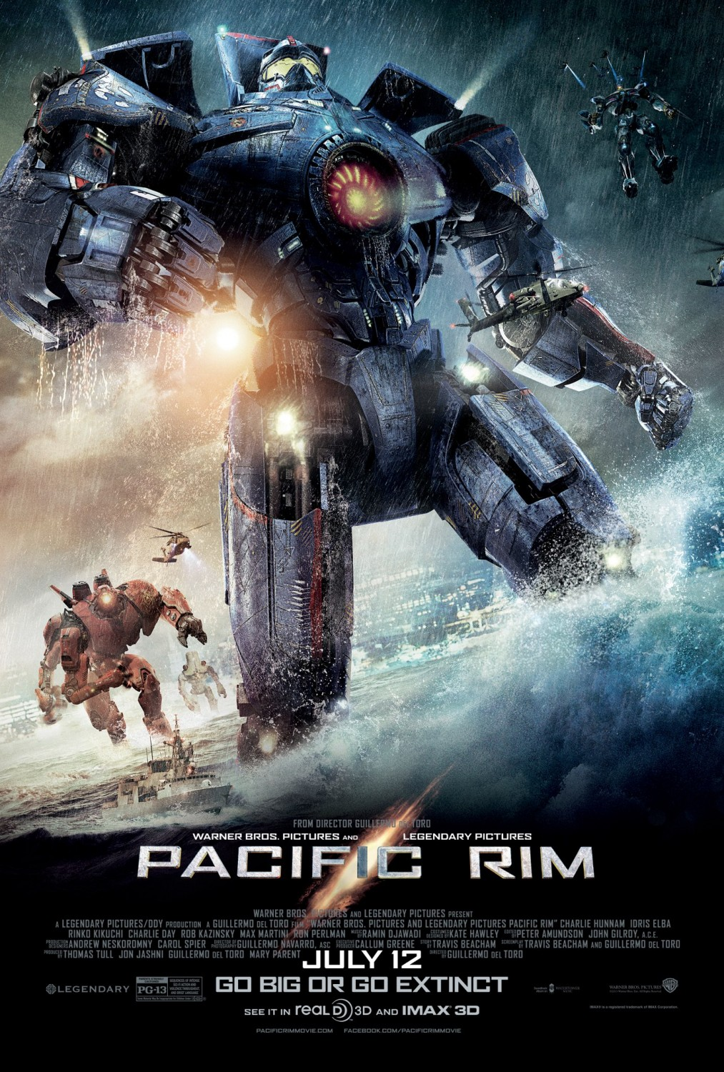 """Poster featuring Gipsy Danger from """"Pacific Rim""""."""