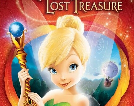 """DVD cover of """"Tinker Bell and the Lost Treasure""""."""