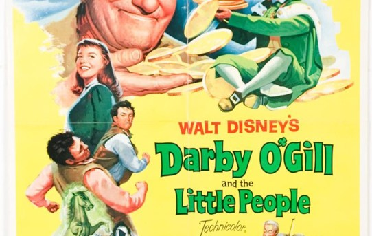 """Original theatrical poster for """"Darby O'Gill and the Little People""""."""