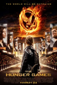 """Theatrical poster for """"The Hunger Games"""" film."""