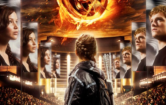 "Theatrical poster for ""The Hunger Games"" film."