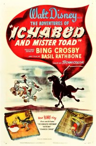 "Original theatrical poster for ""The Adventures of Ichabod and Mr. Toad"" from Walt Disney."