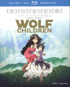 """Cover of the """"Wolf Children"""" blu-ray release."""