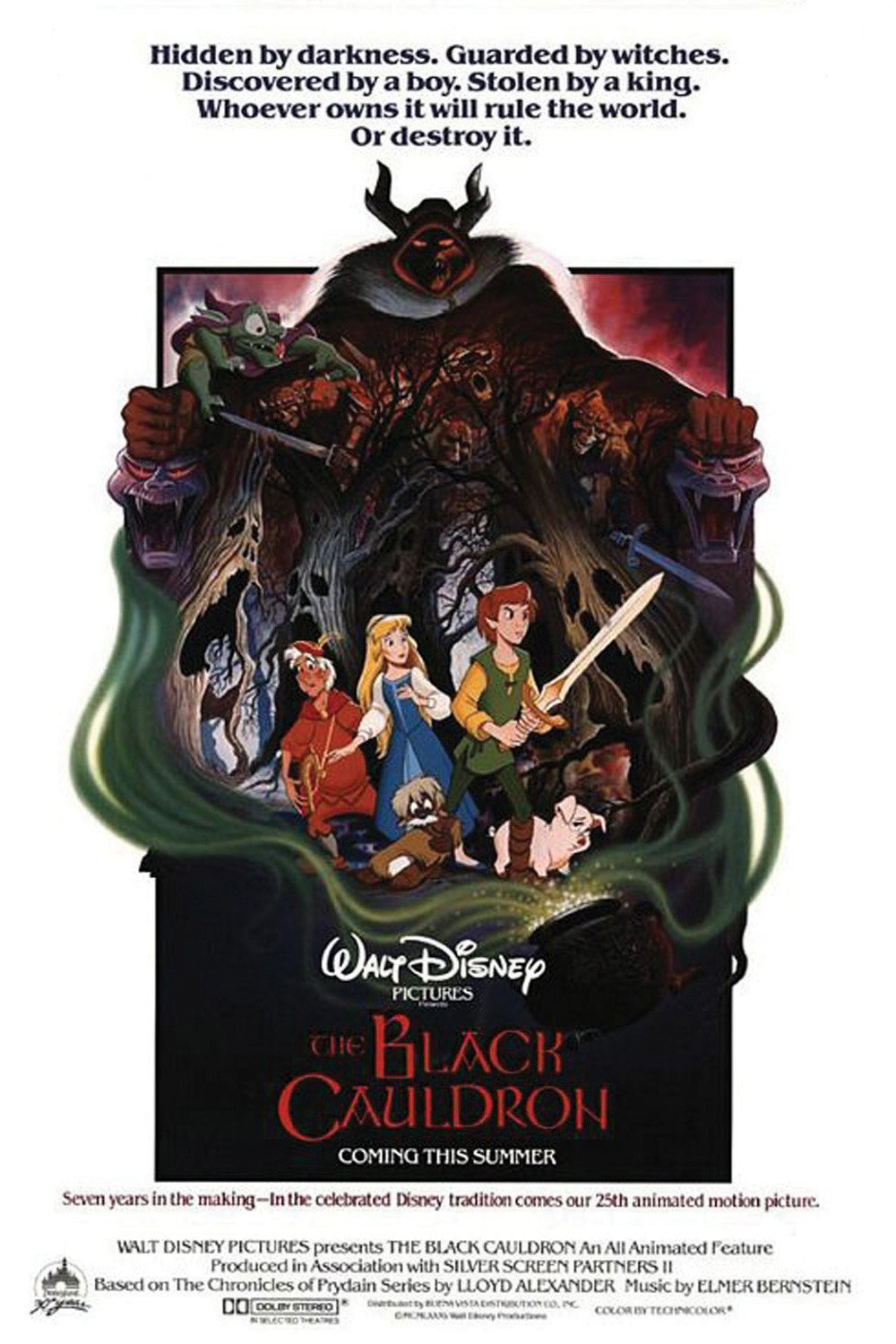 """Theatrical teaser poster for """"The Black Cauldron""""."""