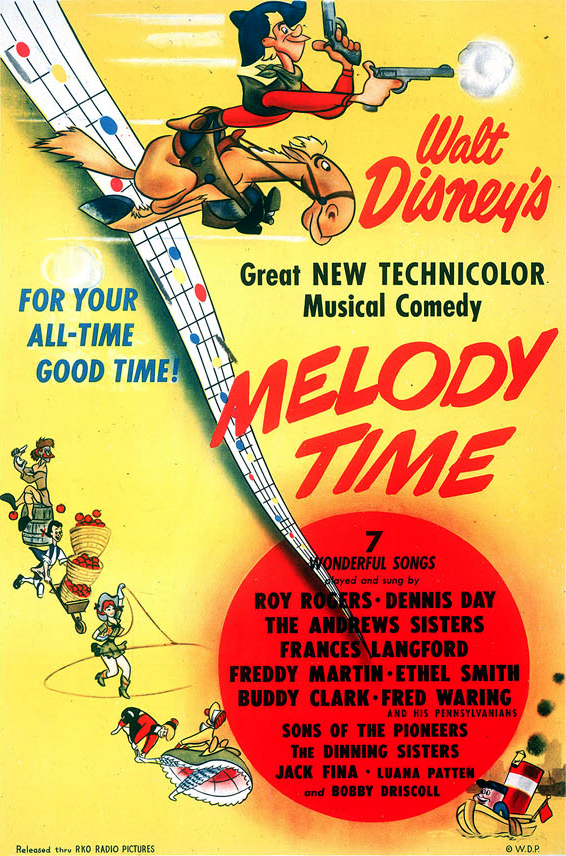 Melody Time - animated anthology film review