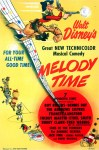 "Original theatrical poster for ""Melody Time""."