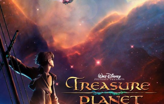 "Theatrical poster for ""Treasure Planet"" from Disney Animation Studios."