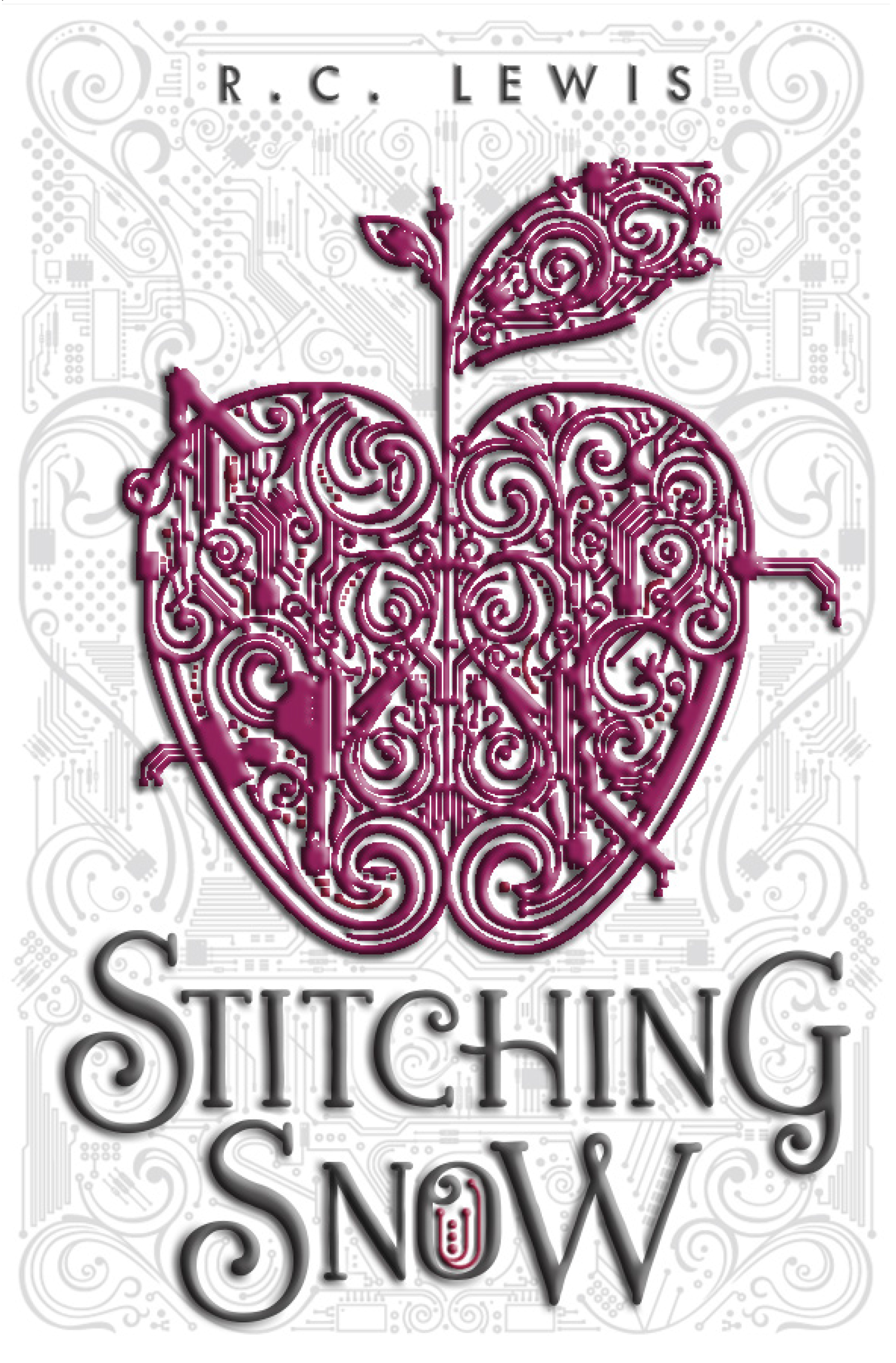 """""""Stitching Snow"""" by R.C. Lewis cover."""