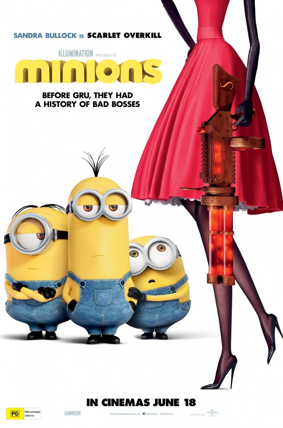 """""""Minions"""" theatrical poster from Australia."""