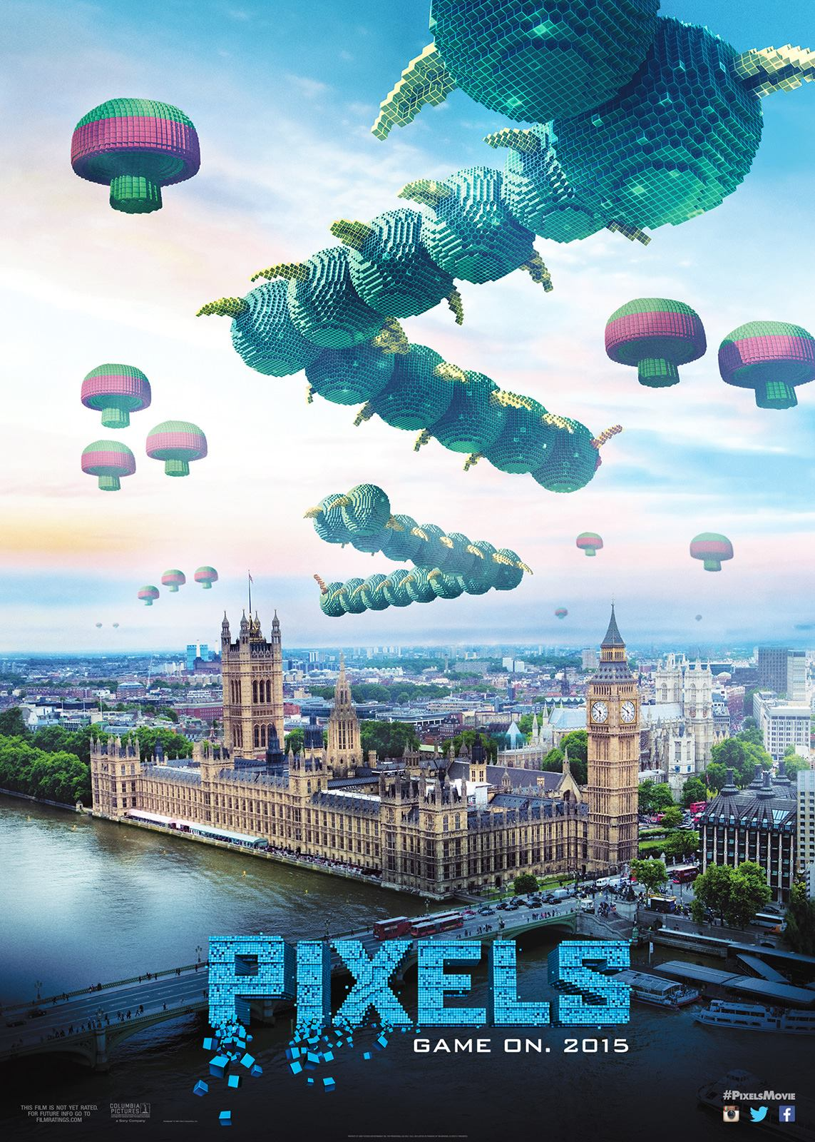 """""""Pixels"""" theatrical teaser poster."""