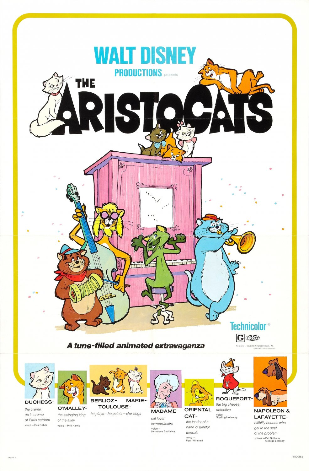 """The Aristocats"" theatrical teaser poster."