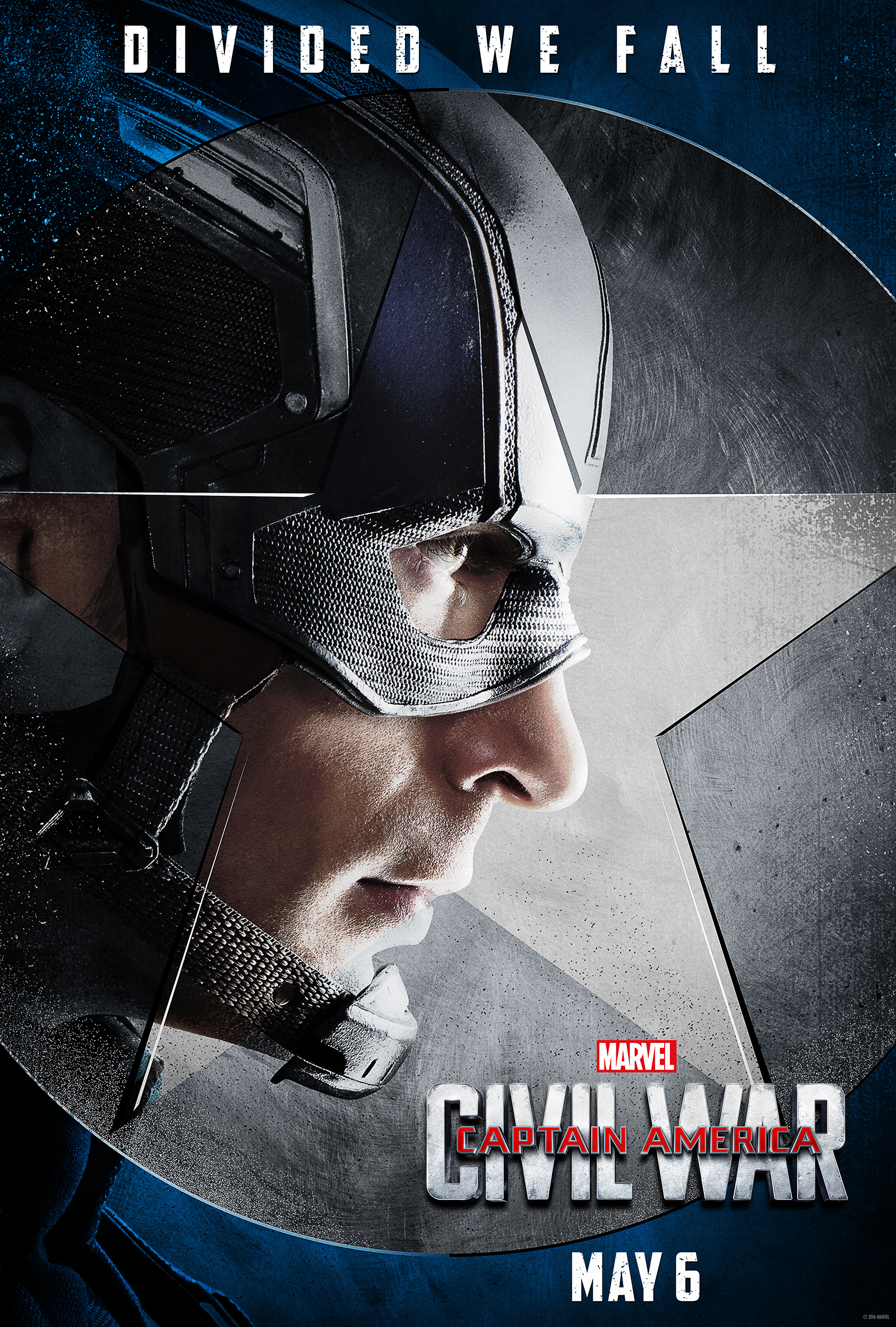 """Captain America Civil War"" poster."