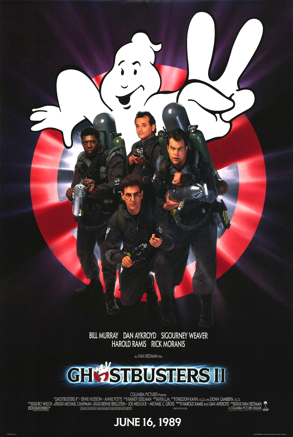 """Ghostbusters II"" theatrical teaser poster."