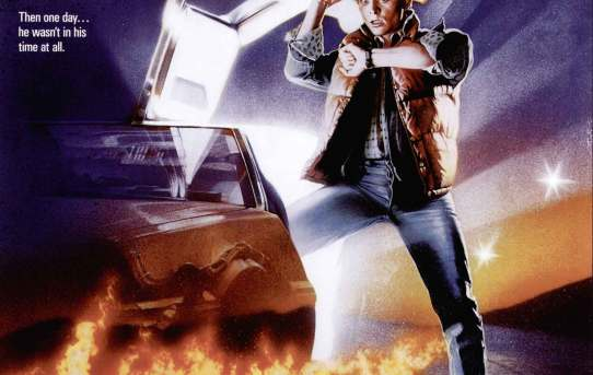 """Back to the Future"" theatrical teaser poster."