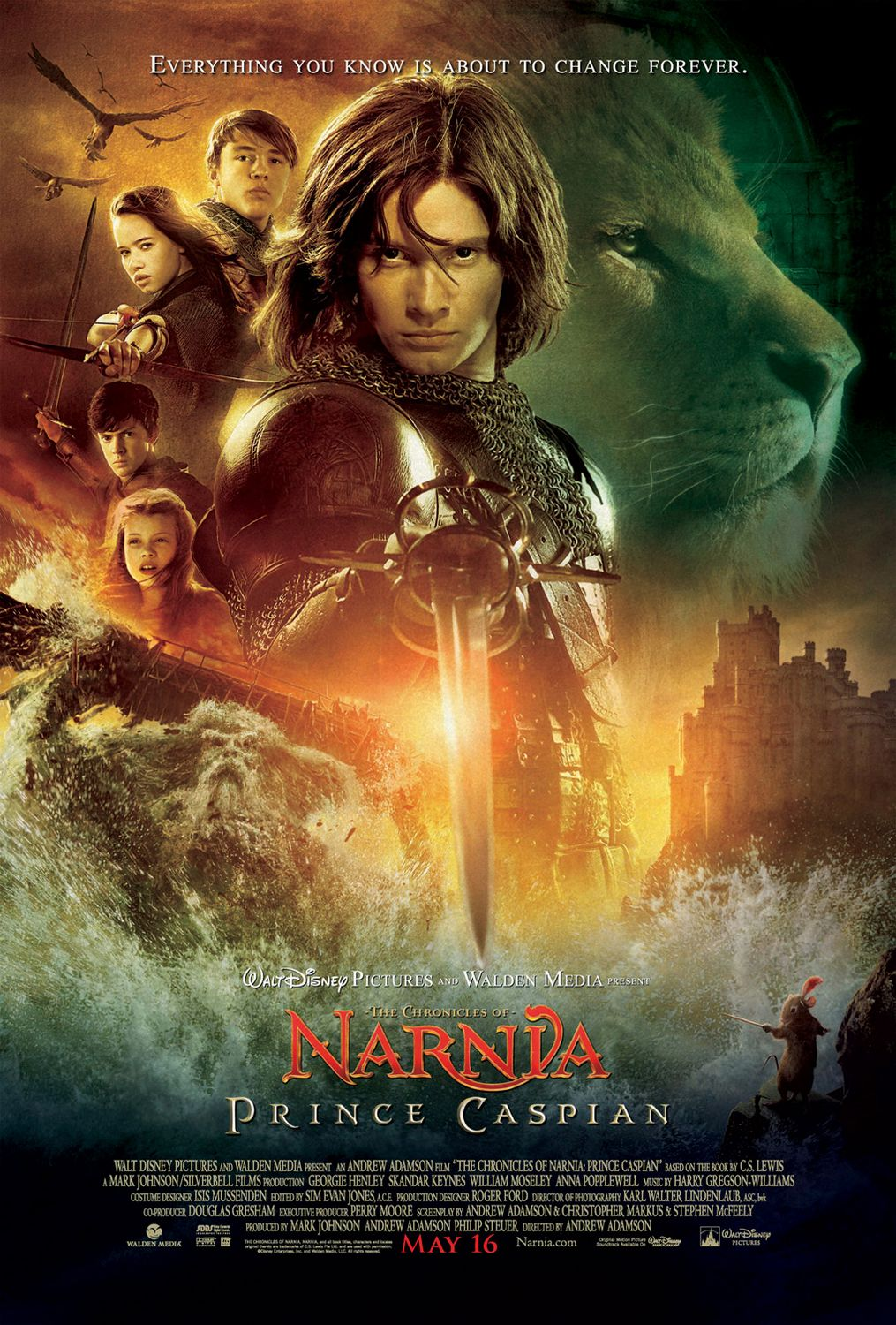 """""""Prince Caspian"""" theatrical teaser poster."""